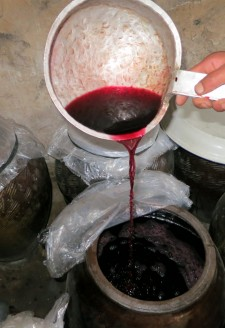 <b>Long awaited grape wine after a month of fermentation.</b>