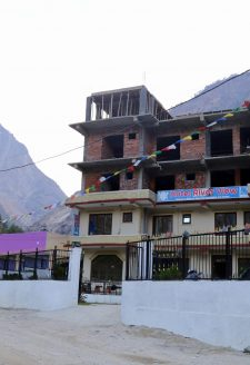 Upgrade of a hotel in Ghattekhola, Rasuwa. In Rasuwa, especially in Timure and Ghattekhole, the number of hotels are mushrooming, and older ones are being upgraded to accommodate more visitors traveling the route.