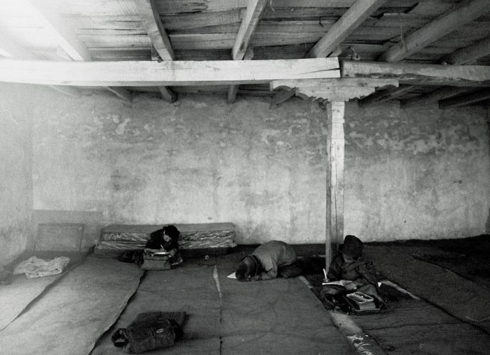 Even though Karsha monastery is the biggest and wealthiest in Zanskar, the school classroom conditions are basic (as of 2008). The rooms are not heated, and students traditionally sit and study on the floor.