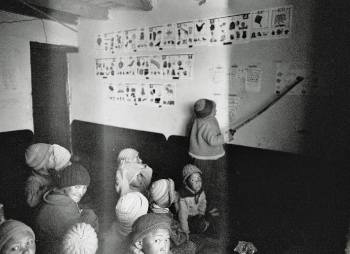 Each student takes turn to play the teaching assistant's role, speaking the material out loud in front of the class, pointing at its visual representation and waiting for other students to repeat.