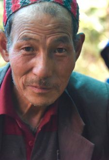 Aitamaan Limbu has been living on the mountainsides of Sikkim all his life. He used to travel across the temperate and sub-temperate forests and pastures of West Sikkim with his father's cow and buffalo herd. As a young man, he would help collect firewood, prepare meals, and gather the animals in the evening around the herder's hut, locally known as a goth. Today, he has close to one hundred and fifty sheep that he rears year-round. In the summer they graze the high alpine pastures and move in the winter to the temperate and sub-temperate forests of the comparatively lower altitude.