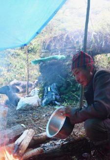 Meals are often kept very simple to save time and energy. Most meals consist mainly of rice. The herder will travel with a two-month supply of rice and will often purchase additional rations and supplies when traveling through a village or settlement.